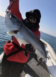 北風10mの中、拾い釣りです。